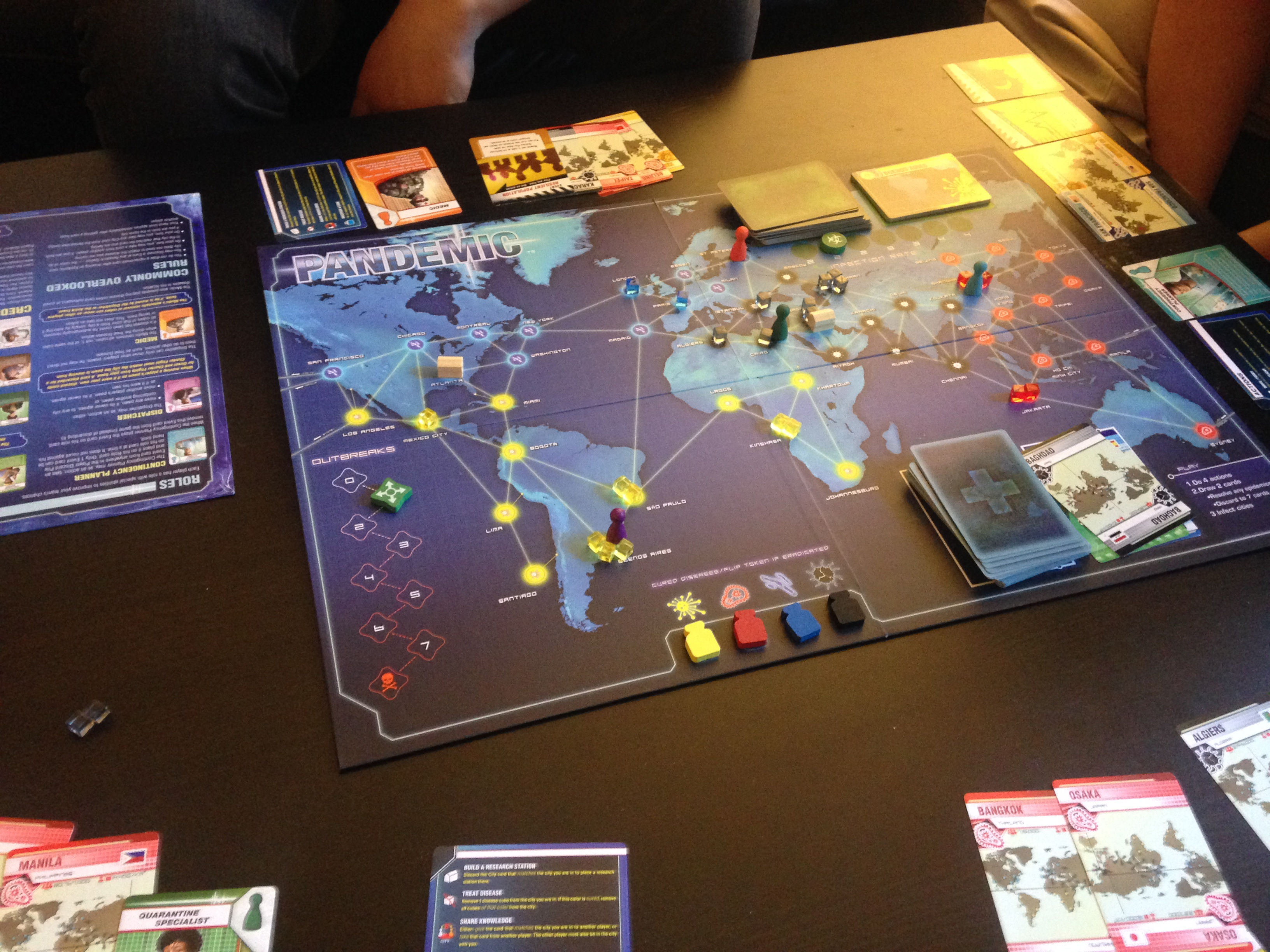 a pre christmas game night with pandemic power grid 7